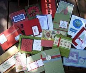 Kerstkaarten: De kerststal, Kerstballendoos, Kerstluikjes, Kerst(jam)blister, Witte kerstboom, Nostalgische schudkaart