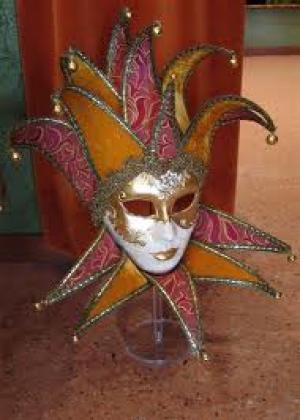 Wie bent u? Venetiaans masker