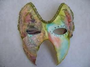 Wie bent u? Papieren masker