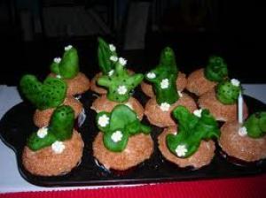 Gezond Goed: Microfoontjes, Banaanmannetjes, Kiwimannetjes, Cactus, Fruitige traktatie, Wolk met maan, Mandarijn-Chineesjes en Potje brood